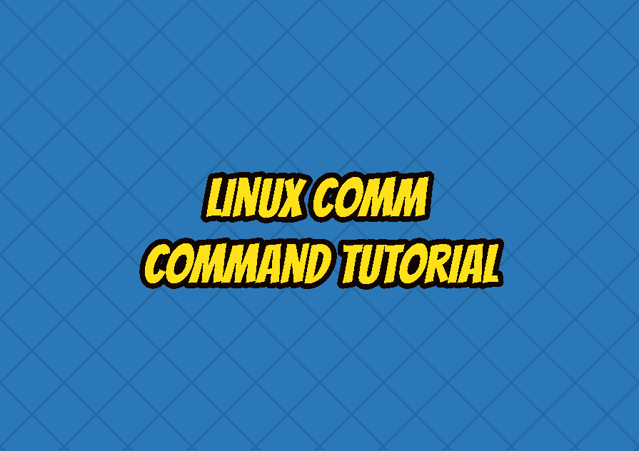 Linux comm Command Tutorial