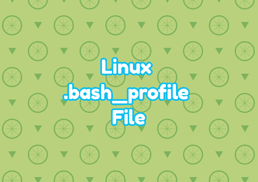 Linux .bash_profile File