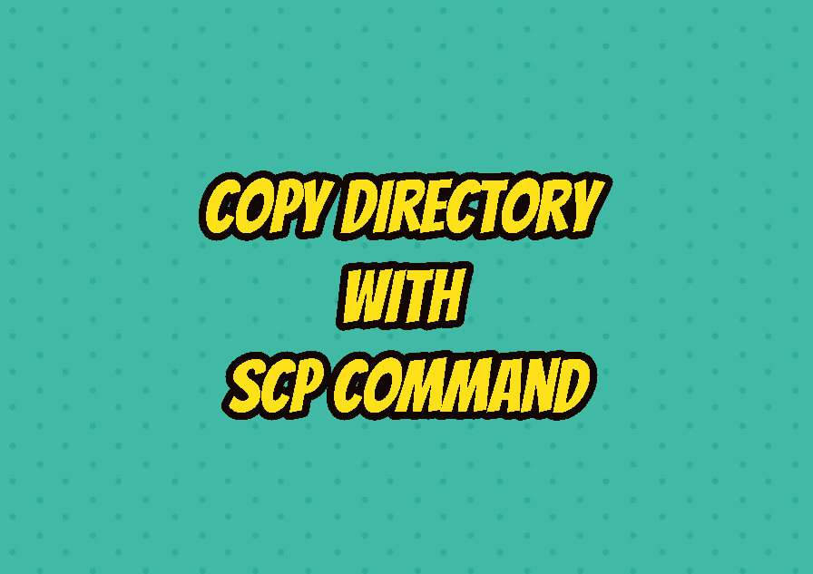 Copy Directory with SCP Command