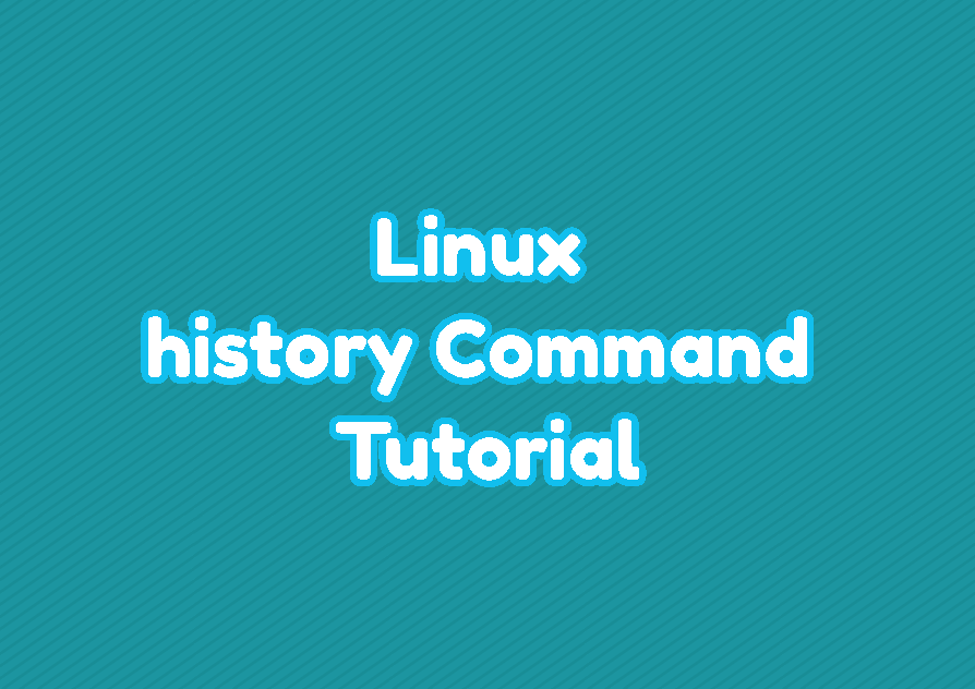 Linux history Command Tutorial