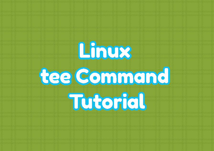 Linux tee Command Tutorial